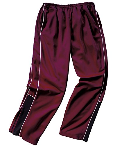 - Charles River Apparel 9985 Men's Olympian Pant,Maroon/White/Black,XL