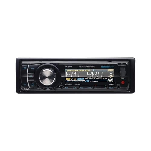1 - Single-DIN In-Dash CD Receiver with Bluetooth(R), Single-DIN in-dash CD receiver, AM/FM receiver, 752UAB