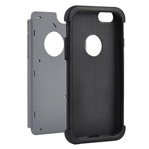 Para iPhone 4,7 pulgadas Caso, Para iPhone 6 y 6S Starry Pattern Silicone + Plastic Combination Case (4.7 pulgadas) ( Color : Dark Blue ) Grey