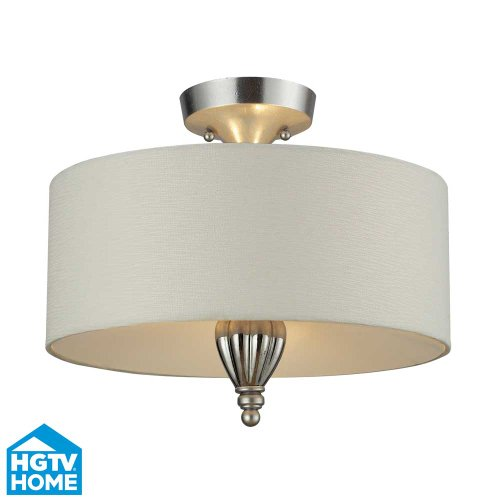 Elk Lighting Martique 3-light Semi Flush, Silver Leaf
