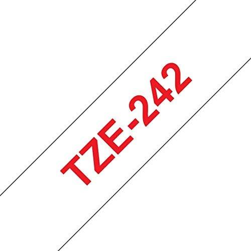 3 Schriftbänder kompatibel zu Brother P-Touch TZE-242 8m//18mm Rot auf Weiß