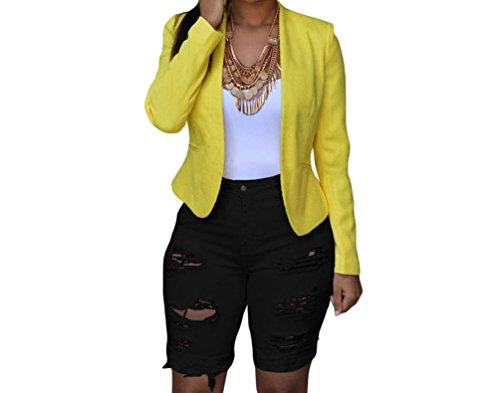 FQHOME Womens Black Denim Destroyed Bermuda Shorts Size S