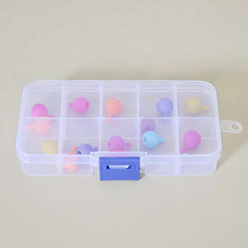 Price comparison product image Zehui 8/10/15/24 Compartments Transparent Plastic Box Cosmetic Fishing Gear Jewelry Electrical Accessories Medicine Pills Storage Detachable Container Craft Organizer