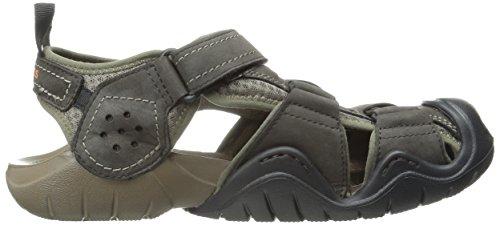 0494b4d9405 crocs Men s Swiftwater Leather Fisherman Sandal