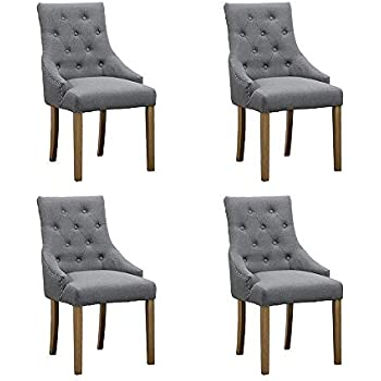 Amazon Com Homesailing 4 Comfy Armchairs Dining Room