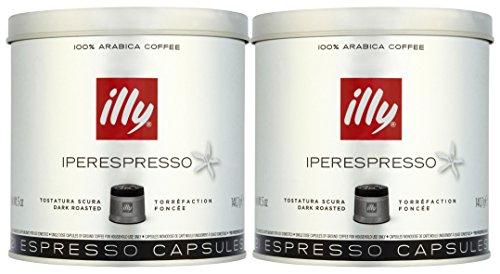 -[ illy Iperespresso Dark Roasted 21 Espresso Capsules, 140,7g (Pack of 2, Total 42 Capsules)  ]-