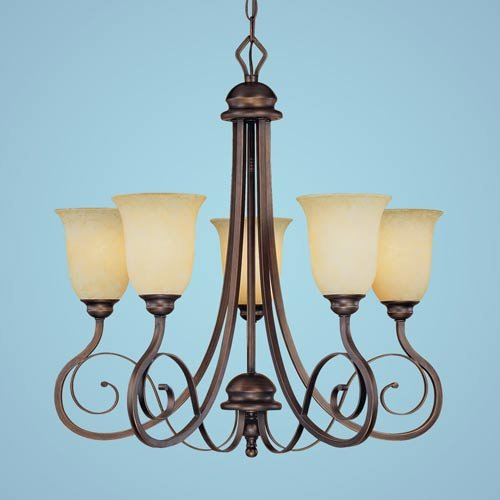 Millennium Lighting 1055-RBZ Chateau 5-Light Chandelier in Rubbed Bronze ()
