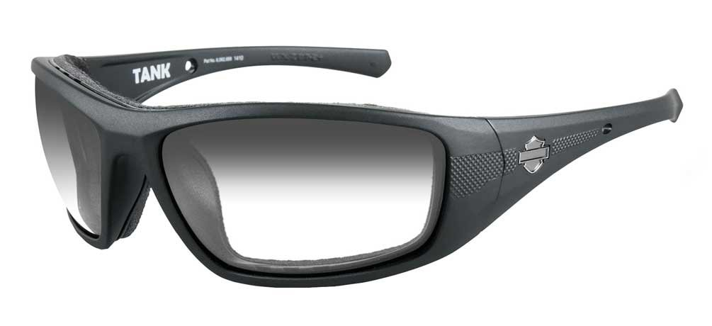 Harley-Davidson HD Tank LA Light Adjust Smoke Grey Lens in a Matte Black Frame Sunglasses by Harley-Davidson