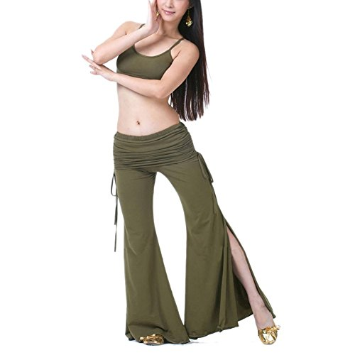 BellyLady Belly Dance/Yoga Costume, Spaghetti Strap Tank Top and Tribal Pants (Dance Belly Dancer Tank Top)