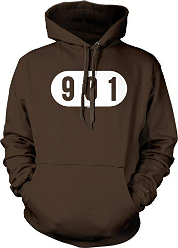 NOFO Clothing Co 901 Memphis Hooded Sweatshirt, M Brown (Best Barbecue In Mississippi)