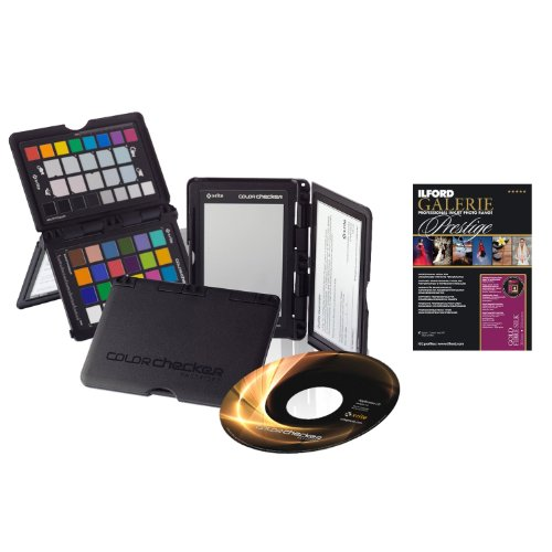"X-Rite EODIS3CCPP i1 Display Pro and ColorChecker Passport Bundle in Black with Ilford GALERIE Prestige Gold Fibre Silk 13x19"" 50 Sheet Pack"