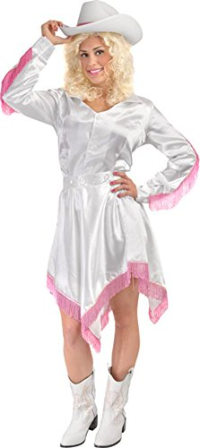 Dolly Country Singer Costume, Size X-Large White