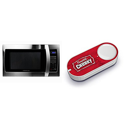 Farberware Professional FMO13AHTBKE 1.3 Cubic Foot 1000W Microwave Oven, Stainless & Campbell's Chunky Soup Dash Button