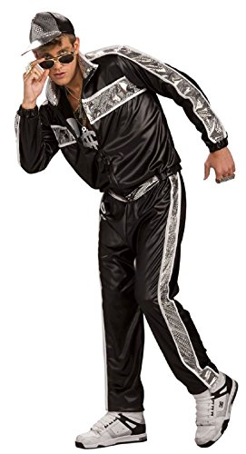 Rap Idol Costume 1990s Rapper Costume Sports Suit 80s Workout (Rapper Costume Women)