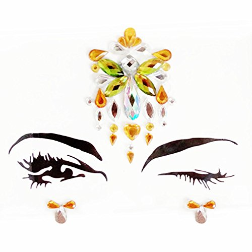 Adhesive Face Jewels Sticker Rhinestone Jewels Festival Party Body Glitter Stickers Tattoo - Crystals Face Around