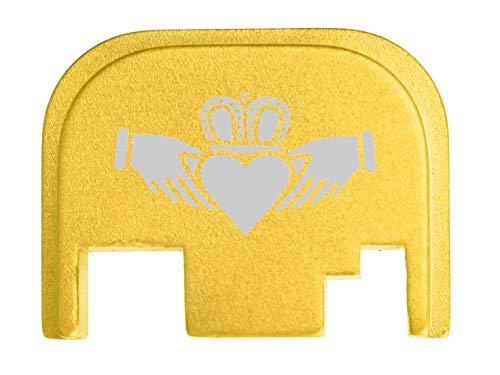 for Glock Back Plate Gen 1-4 17 19 21 22 23 27 30 34 36 41 Gold NDZ - Scottish Claddagh