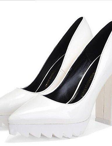 noir Rouge chaussures Ggx Uk4 White gros Talons polyuréthane Chaussures Femme Gris Cn36 talons Talon À Eu36 décontracté Blanc us6 RwwtIf