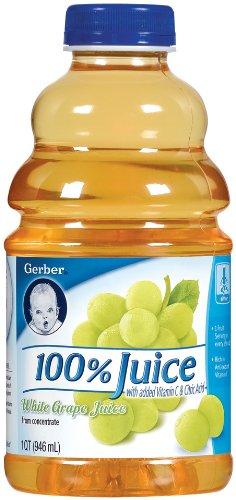 Gerber 100% White Grape Juice, 32-Ounce Bottles (Pack of 6)
