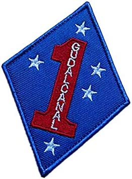 USMC 1ST GUADALCANAL MILITARY PATCH NEW 1ST MARINES GUADA Embroidered Iron-On