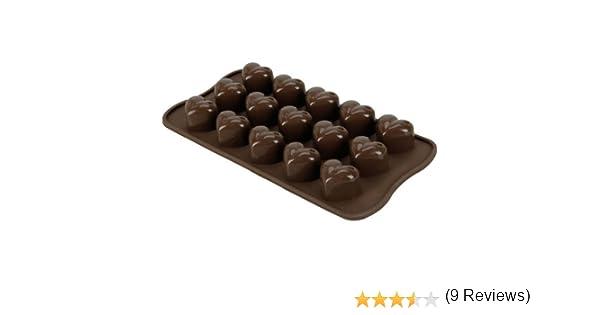 FamilyMall - Molde para hacer bombones (silicona), dise?o de corazones: Amazon.es: Juguetes y juegos