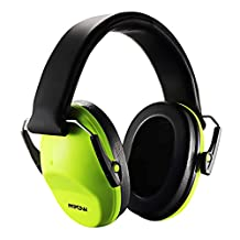 Mpow Kids Earmuffs Ear Defenders Comfortable Kids Safety Ear Muffs Shooter Hearing Protection with Adjustable Headband Noise Cancelling for Professional Soundproofing Noise Reduction-Green