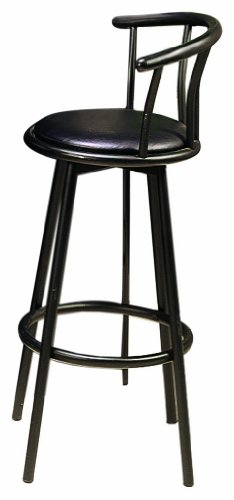 Coaster 29-Inch Swivel Dining Barstool, Black Metal (2 units per box)