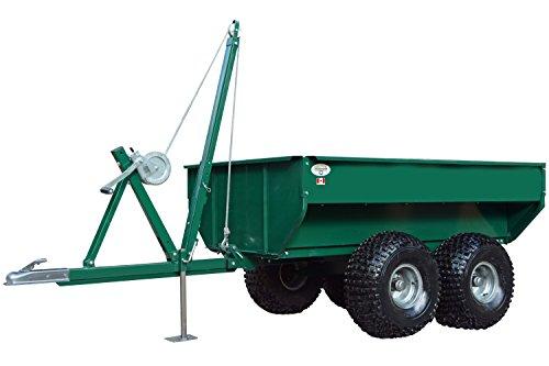 Tandem Axle Cargo Trailers (MUTS ATV Dump Trailer 2000-Pound - Heavy Duty Steel ATV Tow Tandem Axle Cart - Winch Operated Lift)
