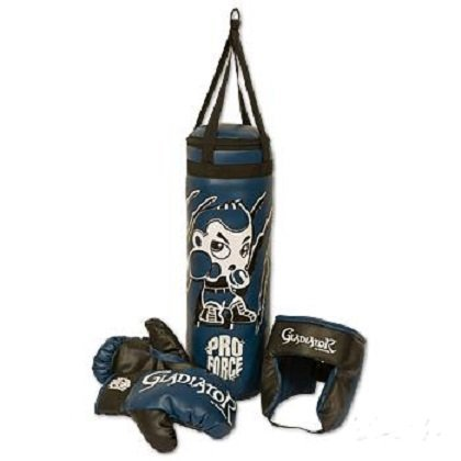 Proforce Kids Boxing Set-Bag, Head gear, Gloves