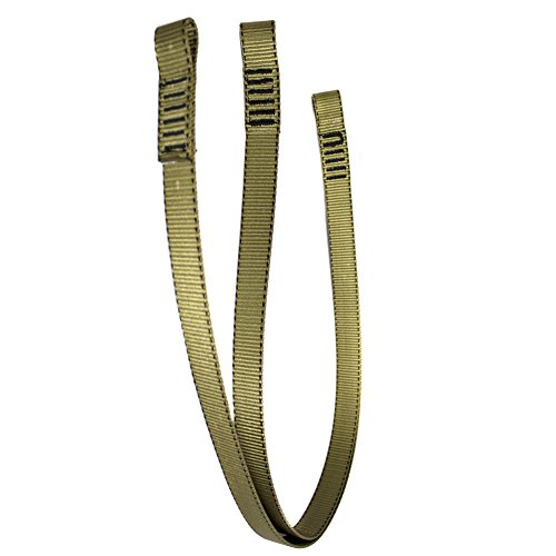 Fusion Climb 6ft 72''x1'' Y-Legged Fall Safety Zipline Lanyard with Small Loops 23kN Coyote Brown by Fusion Climb