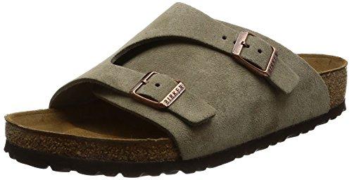 Birkenstock Suede Slides (Birkenstock New Zurich Taupe Suede 46/13-13.5 R Mens Sandals)