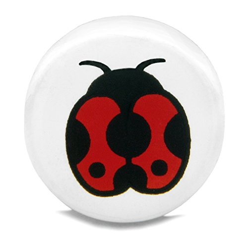 - 10 Pieces DIY Reversible Ceramic Handcrafted Adorable Lady Bug 21mm Beads with Large Hole