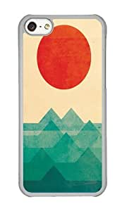 Apple Iphone 5C Case,WENJORS Uncommon The ocean the sea the wave Hard Case Protective Shell Cell Phone Cover For Apple Iphone 5C - PC Transparent