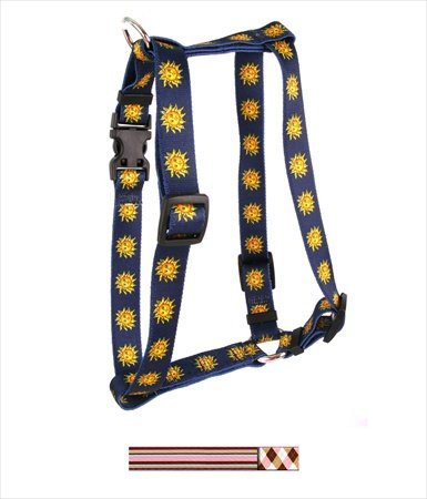 """UPC 844360047837, Pink and Brown Argyle with Stripes Roman Harness Size: Large 1"""" x 20-28"""""""