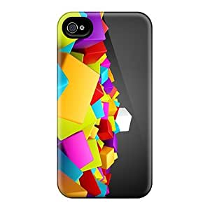 Awesome Design Colorful 3d Blocks Cubes Hard Cases Covers For Iphone 6 Plus