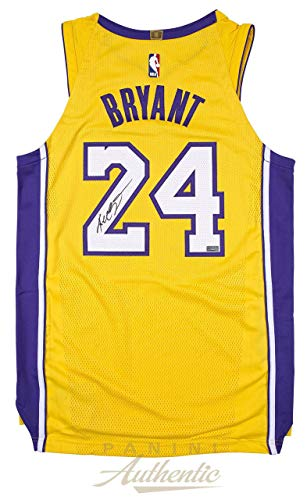Kobe Bryant Autographed Signed Authentic Gold Los Angeles Lakers Jersey - Panini Authentic