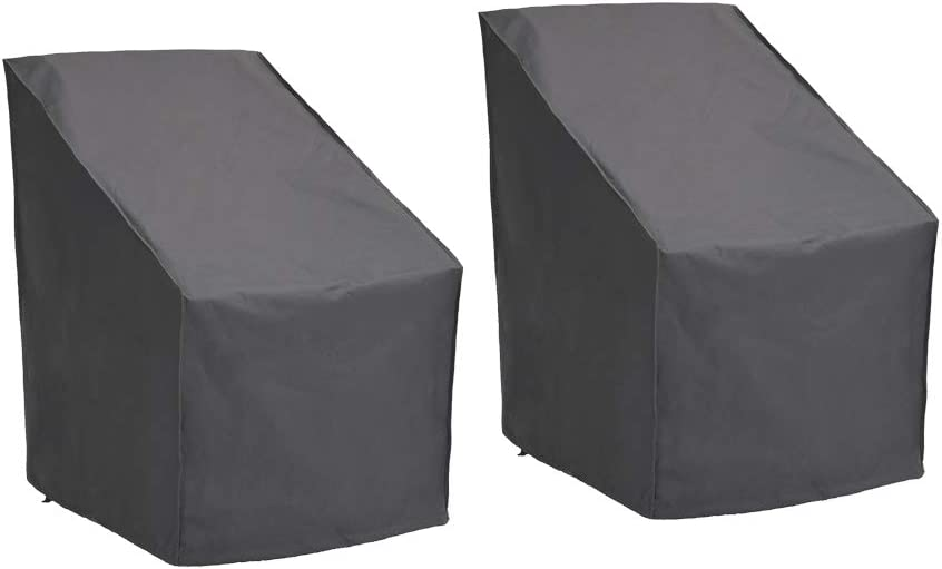 Patio Watcher High Back Patio Chair Cover Durable and Waterproof Out Furniture Chair Cover,Grey