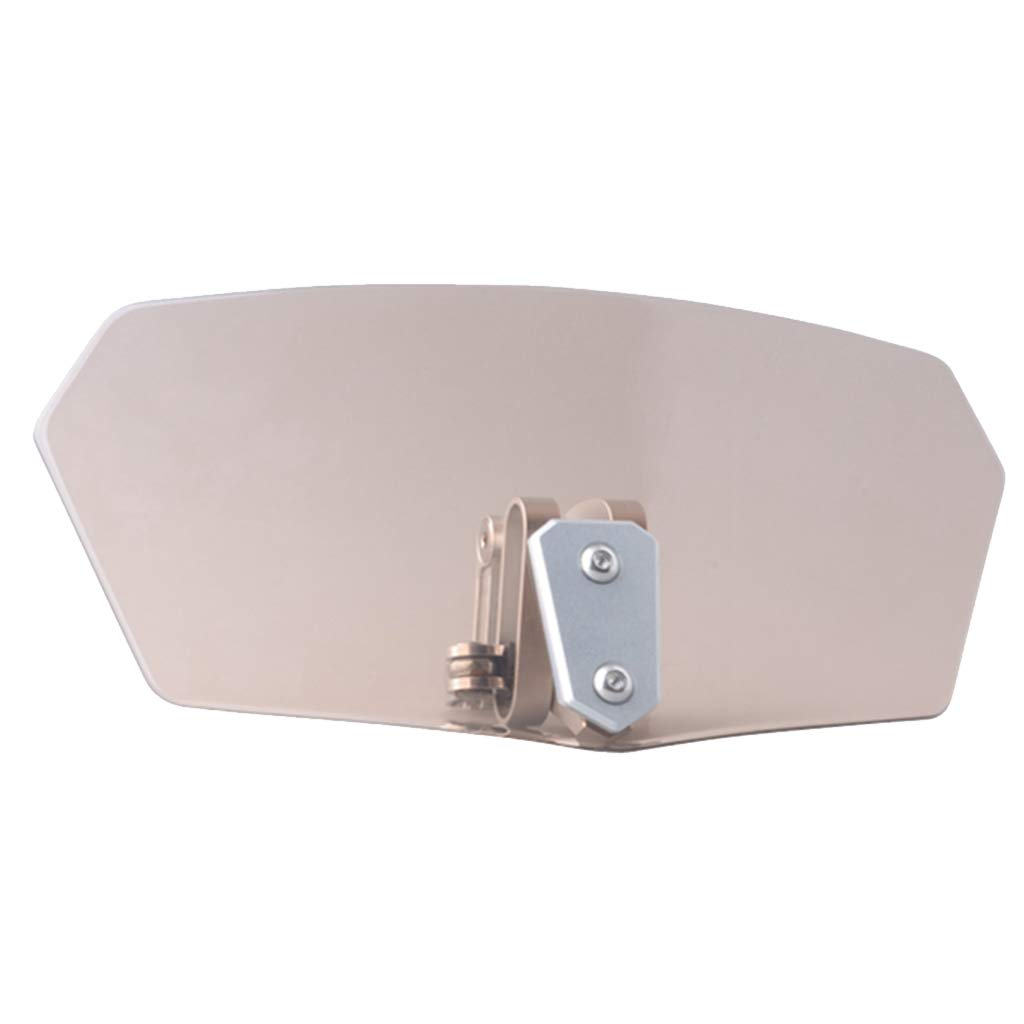 Gris kesoto Deflector de Viento Windshield WindScreen Ajustable Wind Deflector Splitter para Motocicleta