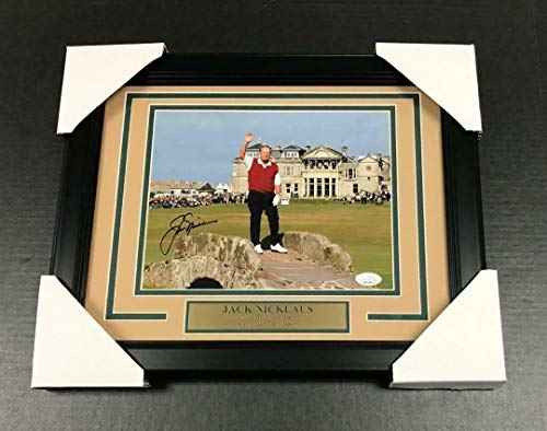 Autographed Jack Nicklaus Photo - A1 LAST BRITISH OPEN FRAMED 8x10 COA - JSA Certified - Autographed Golf Photos (Photo Golf Autograph Certified 8x10)