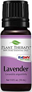 Plant Therapy Lavender Essential Oil. 100% Pure, Undiluted, Therapeutic Grade. 10 ml (1/3 oz).