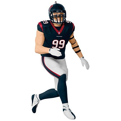(Hallmark Keepsake 2017 NFL Houston Texans J. J. Watt Christmas Ornament)