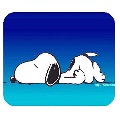 Saco de dormir, diseño de Snoopy Mousepad personalizado personalizado Mouse Pad forma de Rectangular en