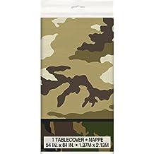 "Military Camo Plastic Tablecloth, 84"" x 54"""