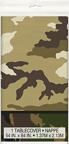 Military Camo Plastic Tablecloth, 84