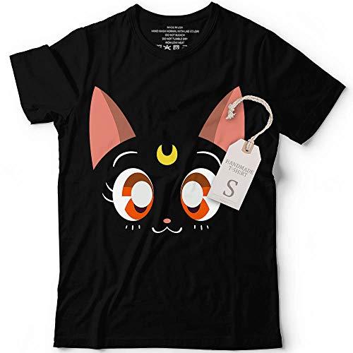Magical Sailor Black Cat Face And Crescent Moon Shirt Halloween Costume Anime Nerdy Kawai Japanese Customized Handmade Hoodie/Sweater/Long Sleeve/Tank Top/Premium T-shirt -