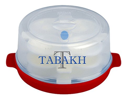 Tabakh Prime 3-Rack Microwave Idly Maker, Makes 12 Idlis (Color may vary) by Tabakh