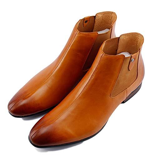 Tacco Yellow Punta da Martin Formale Stivali Stivali Uomo Pelle Stivali Sicurezza Boots Brogue A Alti Chelsea in Classico Alto con Uomo nwAARaqc6