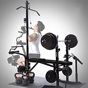KINGC Foldable Weight Bench Combination Incline Stool Bench Press Bench Adjuatable Strength Training Weight Bed Multifunctional Home Heavy Duty Fitness Rack Workout Machine Max Load 440 Lbs Black
