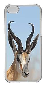 Customized iphone 5C PC Transparent Case - Deer Cover