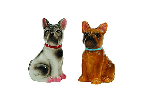 Creative Ceramic Bulldogs Shakers Multicolor