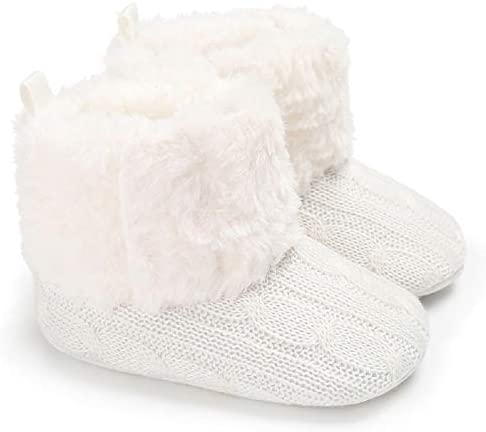 Baby Girl Knit Winter Warm Boots Booties Infant Toddler Newborn Snow